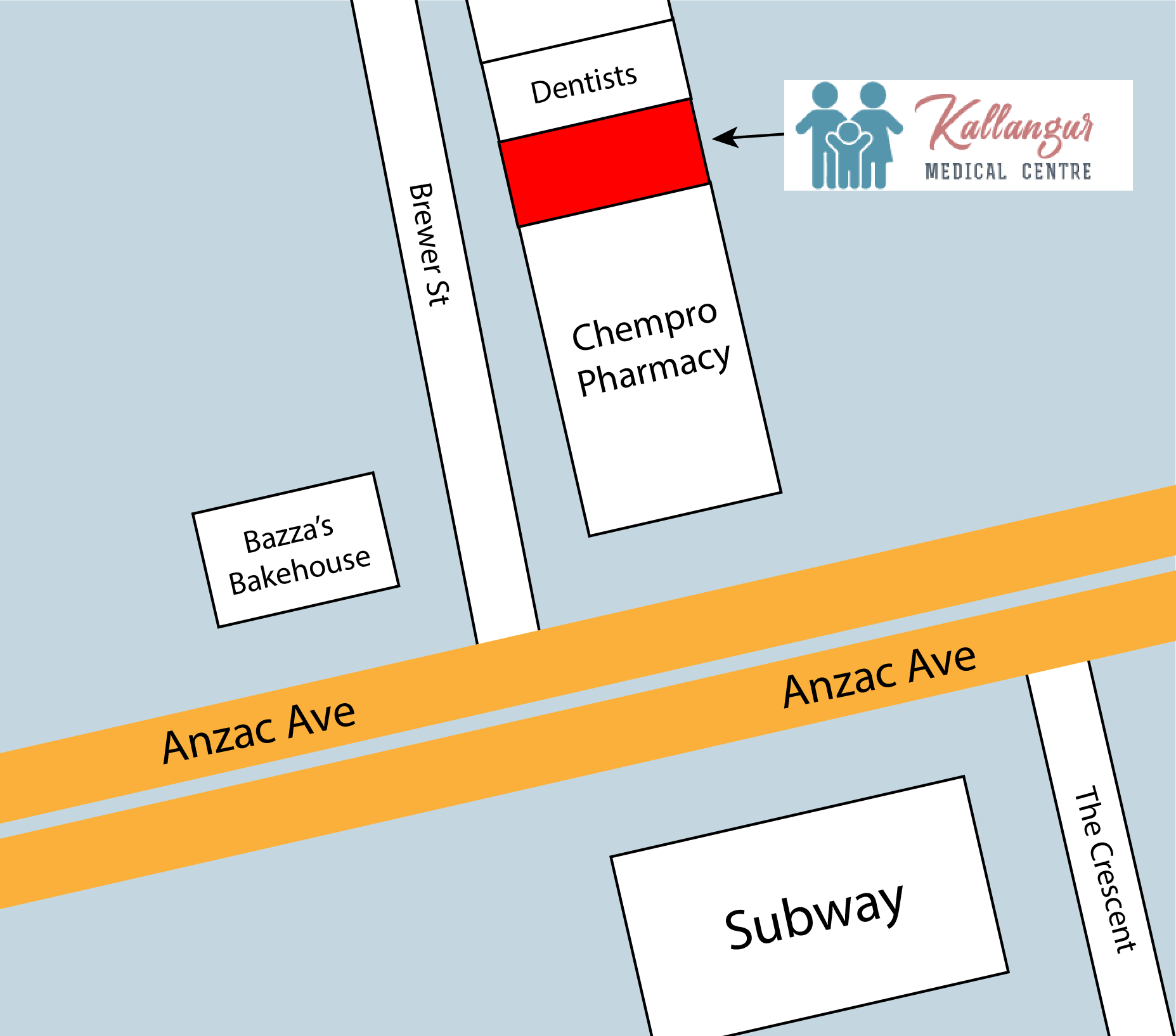 Kallangur Medical Centre Location Map